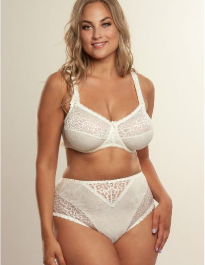 Beate Plain 619431 bra and 144 midi whisper white jaquard