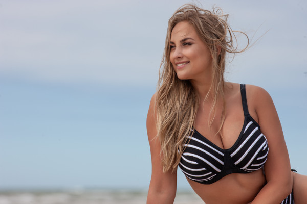 Stripes bikinitop t0051