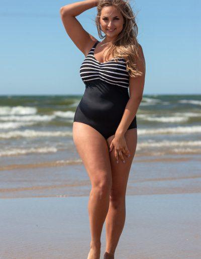 Stripes swimsuit t0013