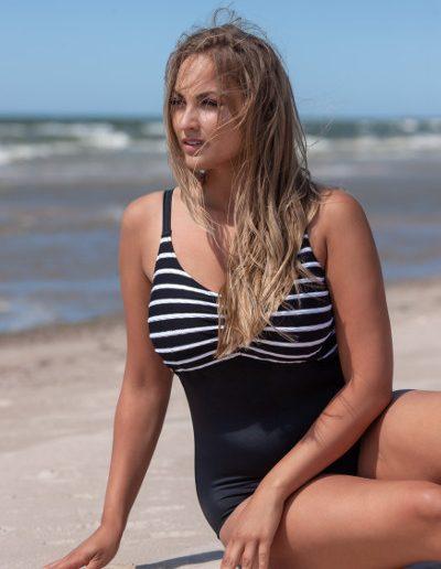 Stripes swimsuit t0013_